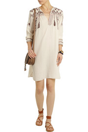Viola embroidered cotton-muslin dress
