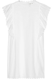 Scarla eyelet cotton mini dress