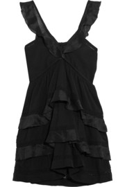 Casey ruffled cotton-blend mini dress