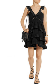 Étoile Isabel Marant Casey ruffled cotton-blend mini dress
