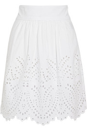 Sara broderie anglaise cotton mini skirt