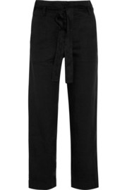 Carter linen-blend wide-leg pants