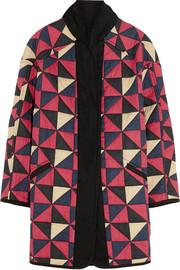 Enid reversible quilted cotton coat