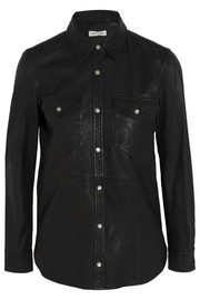 Brent leather shirt