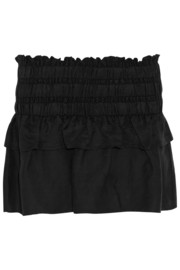 Crista ruffled linen-blend mini skirt