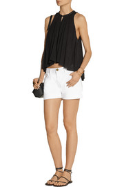 Étoile Isabel Marant Ted embellished plissé cotton-gauze top