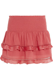 Connie cotton-blend voile mini skirt
