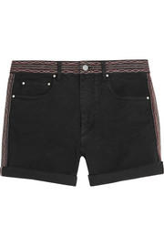 Agnes embroidered denim shorts