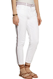 Étoile Isabel Marant Andreas embroidered mid-rise skinny jeans
