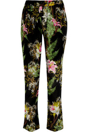 Wilford floral-print cotton-gauze tapered pants