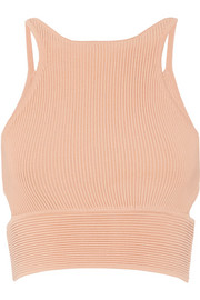 Jonathan Simkhai Cropped ribbed-knit top