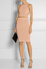 Jonathan Simkhai Ribbed-knit pencil skirt
