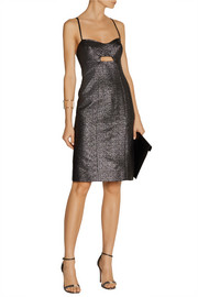 Jonathan Simkhai Cutout metallic jacquard dress
