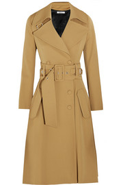 Wool-blend gabardine trench coat