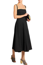 Open-back crepe midi dress