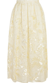 Fil coupé organza skirt