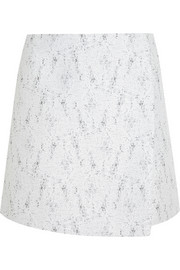 Calvin Klein Collection Bago tweed wrap mini skirt