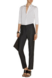 Rachel wool-twill and organza tuxedo pants