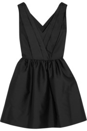 Milly satin-twill dress