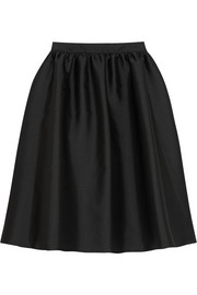 Melina satin-twill skirt