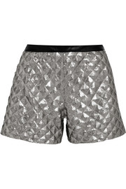 Rena sequined jersey shorts