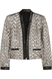 Rena sequined jersey jacket