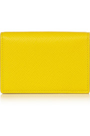 Panama textured-leather cardholder