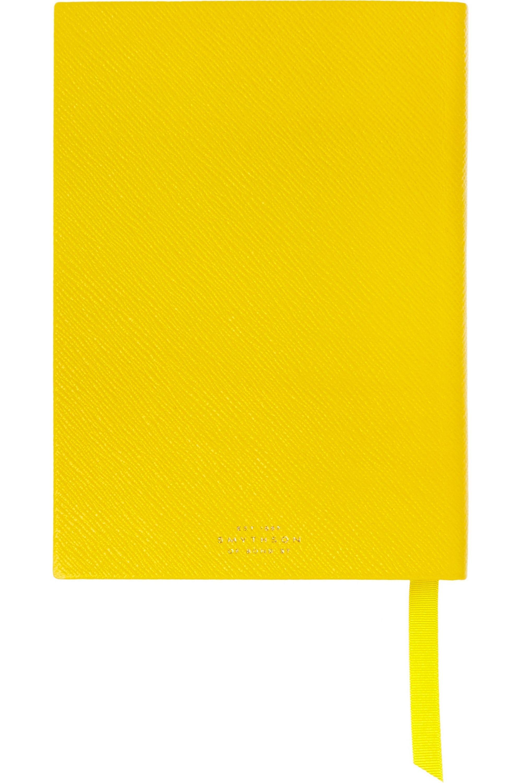 Smythson Soho textured-leather notebook