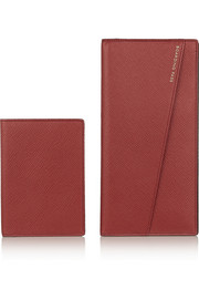 Smythson Textured-leather travel wallet