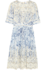 Zimmermann Confetti embroidered floral-print cotton dress