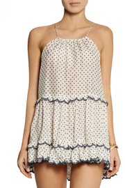 Zimmermann Ceramic polka-dot cotton and silk-blend dress
