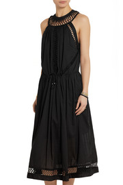 Zimmermann Ceramic Infinity macramé-paneled cotton dress