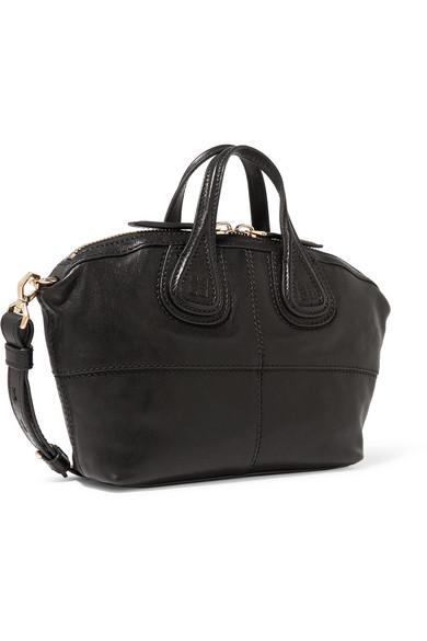 Givenchy Micro Nightingale Tasche aus schwarzem Leder