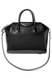 Mini Antigona bag in black leather
