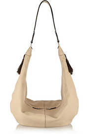 The Sling textured-leather shoulder bag