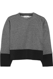 Cropped cotton-jersey sweatshirt