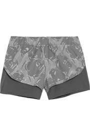 Climastorm® mesh jersey-lined printed shell shorts
