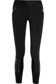 Run Climalite® stretch-neoprene jersey leggings