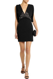Antonio Berardi Embellished stretch-crepe mini dress