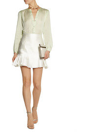 Antonio Berardi Pleated satin-twill mini skirt