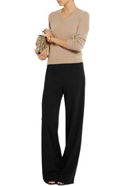 Agnona Wool-blend crepe wide-leg pants
