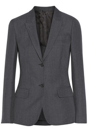 Wool and linen-blend blazer