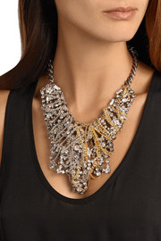 Lulu Frost Collage silver-tone, gold-plated and crystal necklace