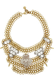 Rita gold and silver-plated crystal necklace
