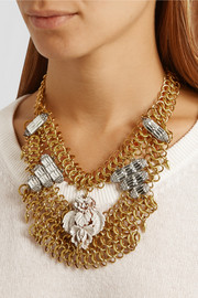 Lulu Frost Rita gold and silver-plated crystal necklace