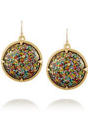 Audrey gold-plated cabochon earrings