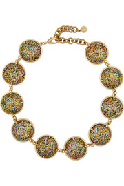 Audrey gold-plated cabochon necklace