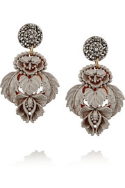 Katharine gold-plated, resin and Swarovski crystal earrings