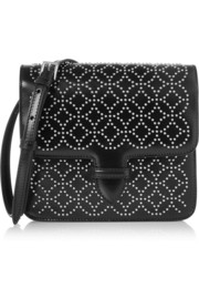 Arabesque mini embellished leather shoulder bag