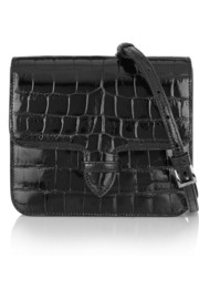 Patent-alligator shoulder bag